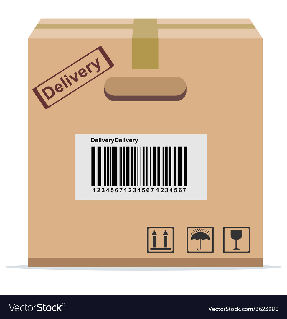 Cardboard box for delivery vector | Price: 1 Credit (USD $1)
