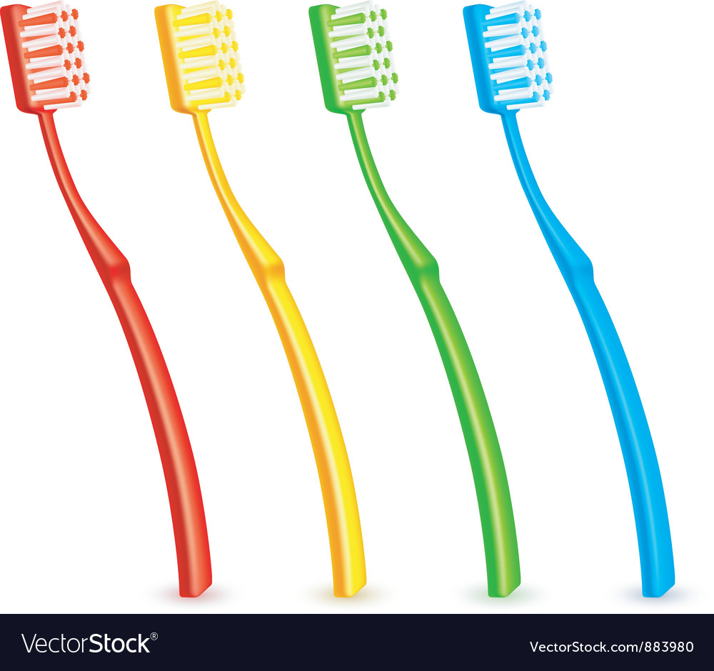 Color toothbrushes vector | Price: 1 Credit (USD $1)