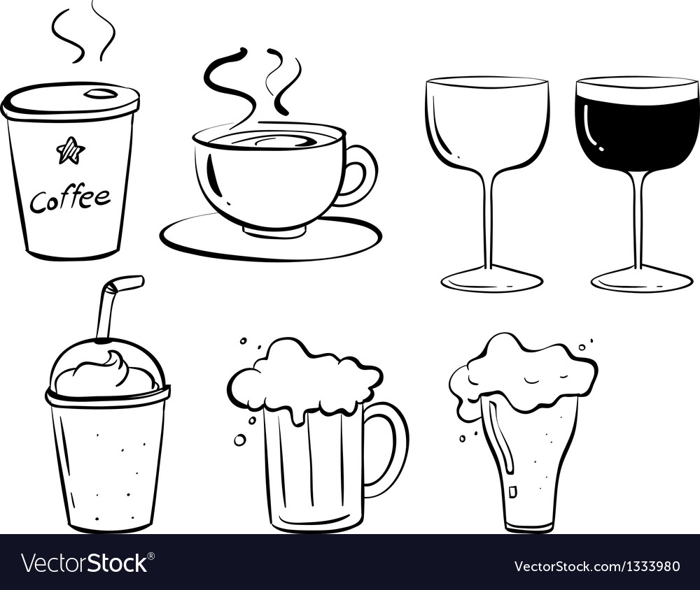 Different kinds of drinks vector | Price: 1 Credit (USD $1)