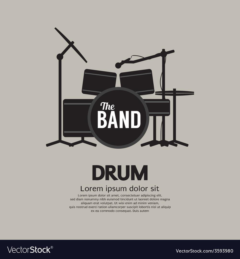 Drum set music instrument vector | Price: 1 Credit (USD $1)