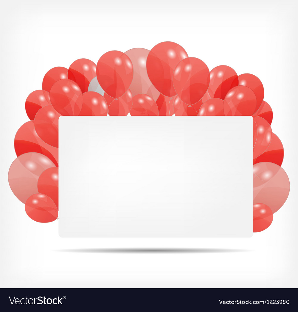 Gift card with balloons vector | Price: 1 Credit (USD $1)