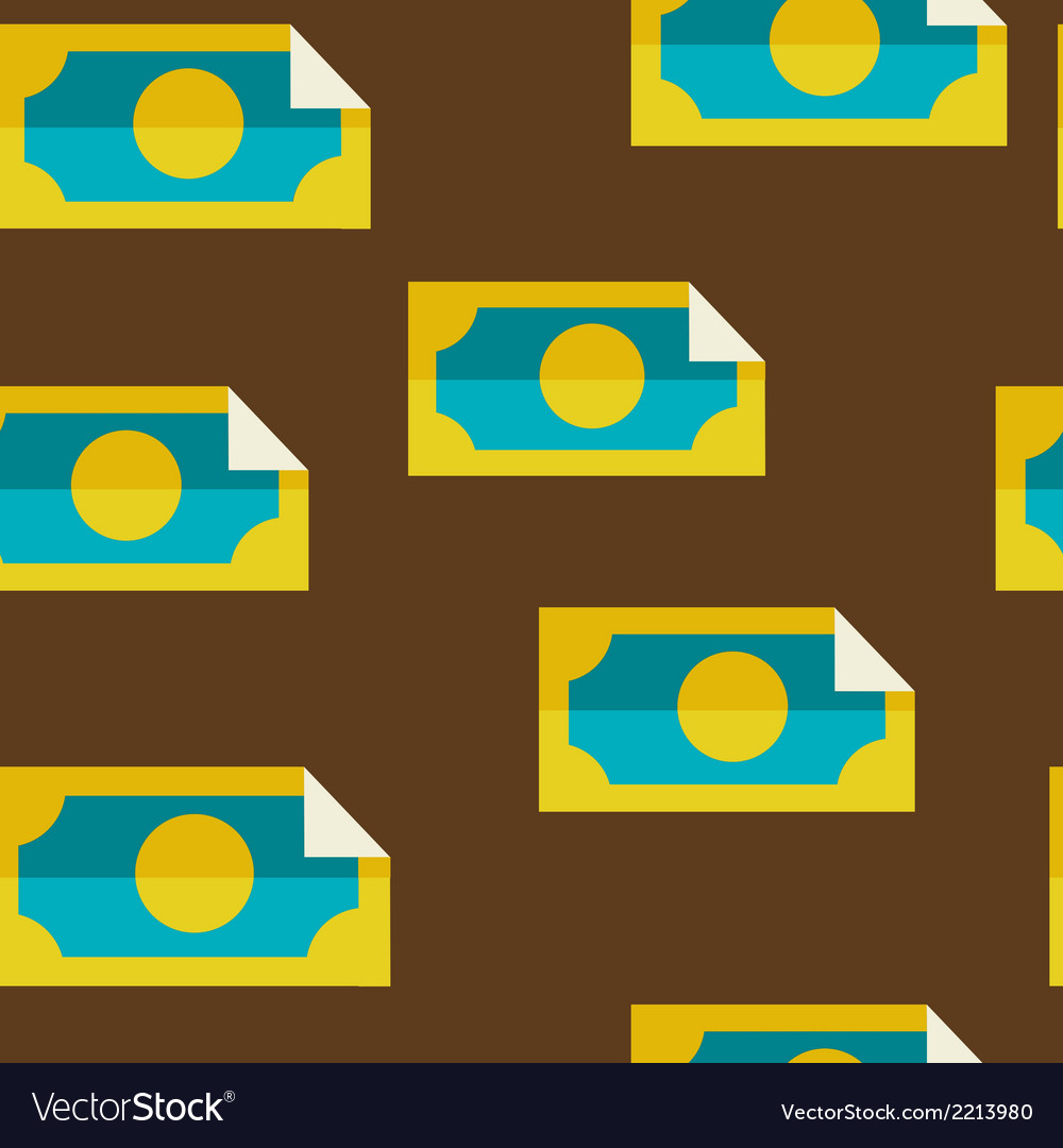 Money seamless background vector | Price: 1 Credit (USD $1)