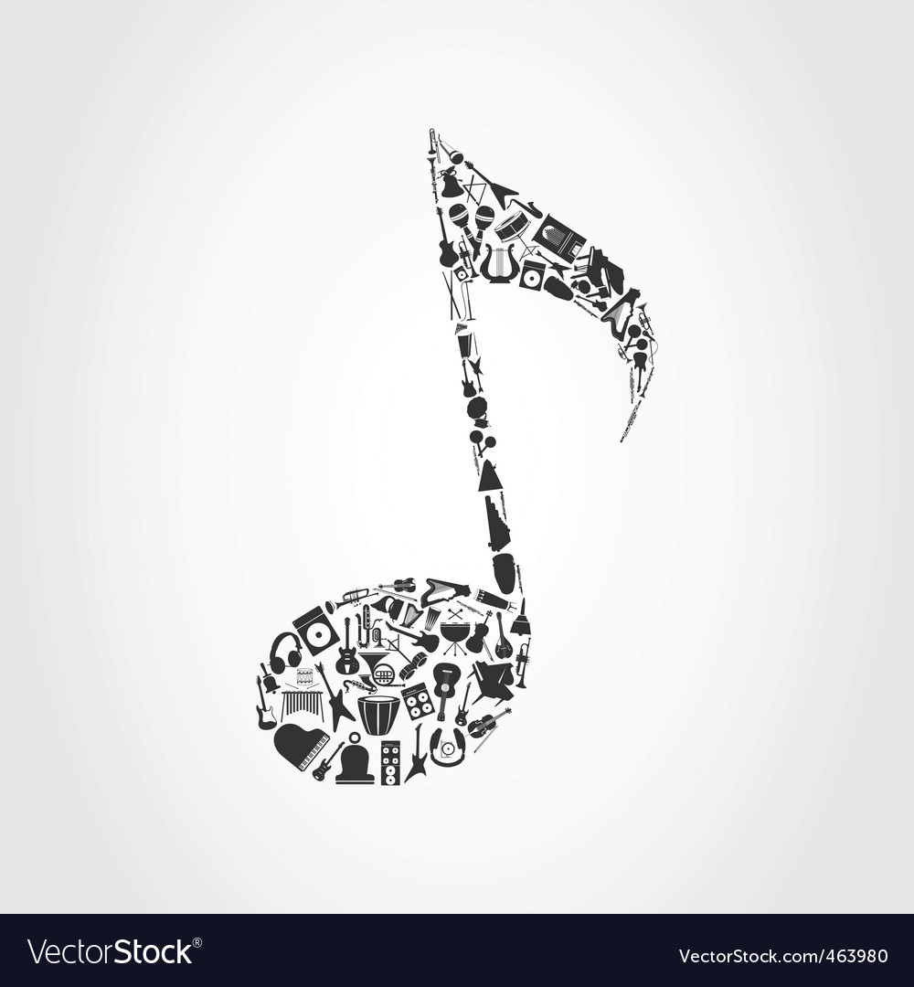Musical note vector | Price: 1 Credit (USD $1)