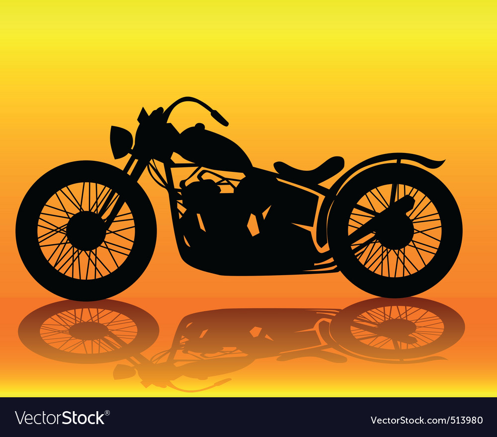 Old motorcycle vector | Price: 1 Credit (USD $1)