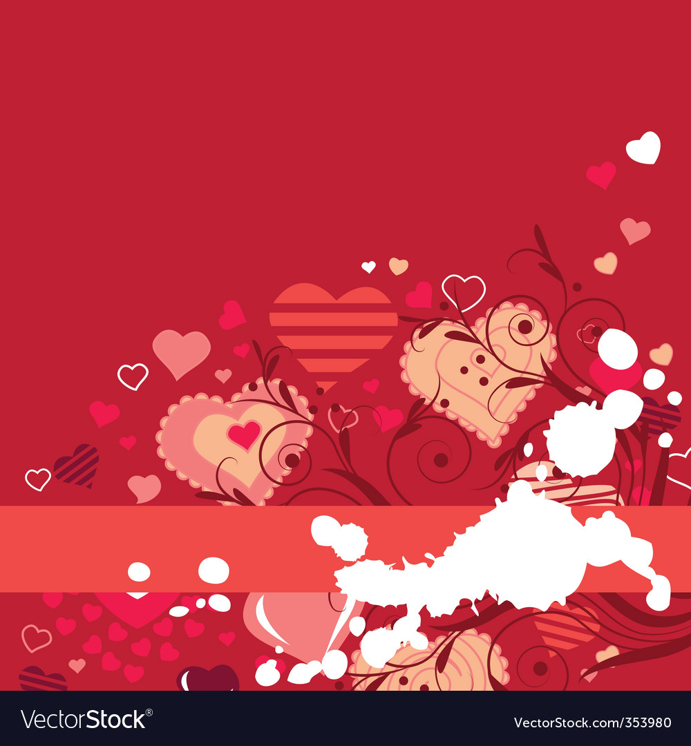 Red hearts vector | Price: 1 Credit (USD $1)