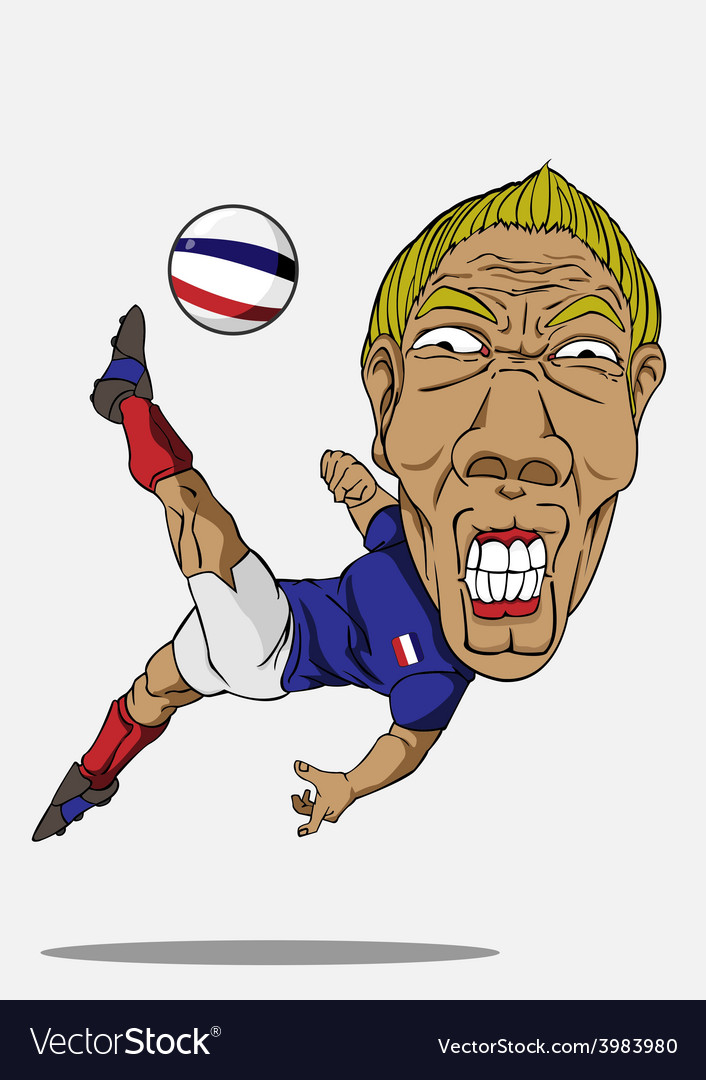 Soccer player french vector | Price: 1 Credit (USD $1)