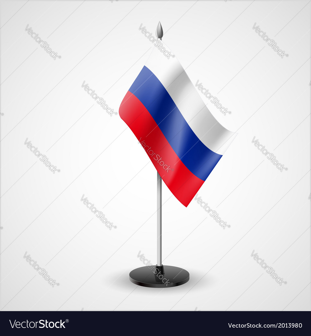 Table flag of russian federation vector | Price: 1 Credit (USD $1)