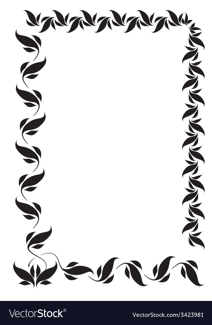 Frame with folk floral ornaments vector | Price: 1 Credit (USD $1)