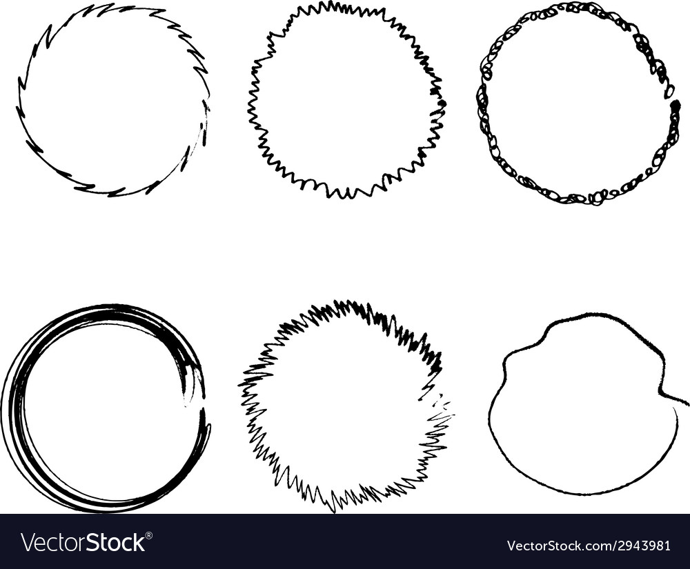 Handdrawn rings vector | Price: 1 Credit (USD $1)