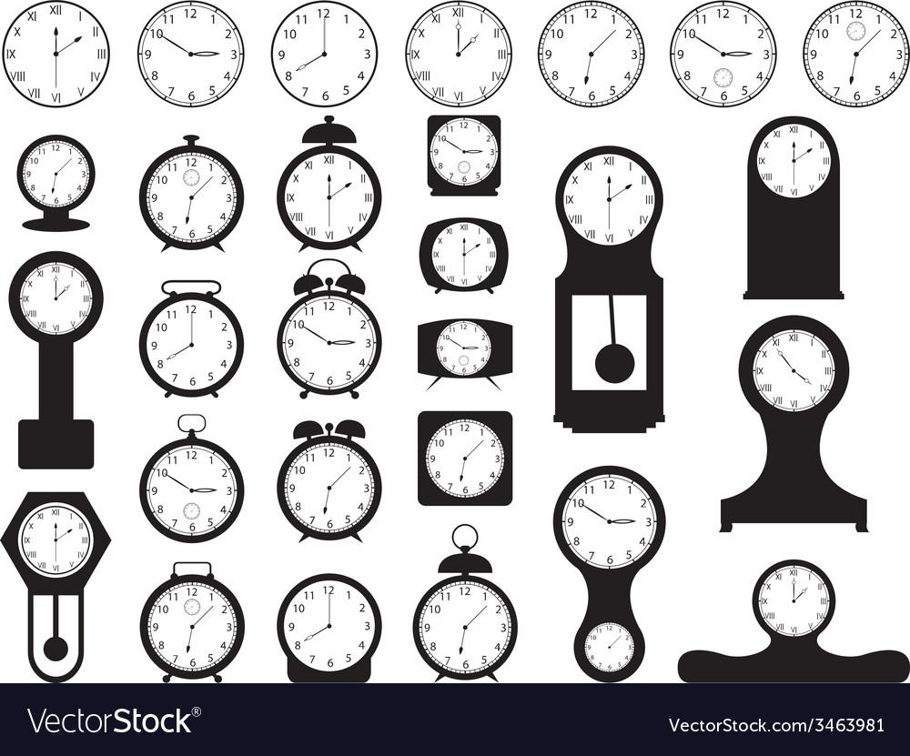 House clocks vector | Price: 1 Credit (USD $1)