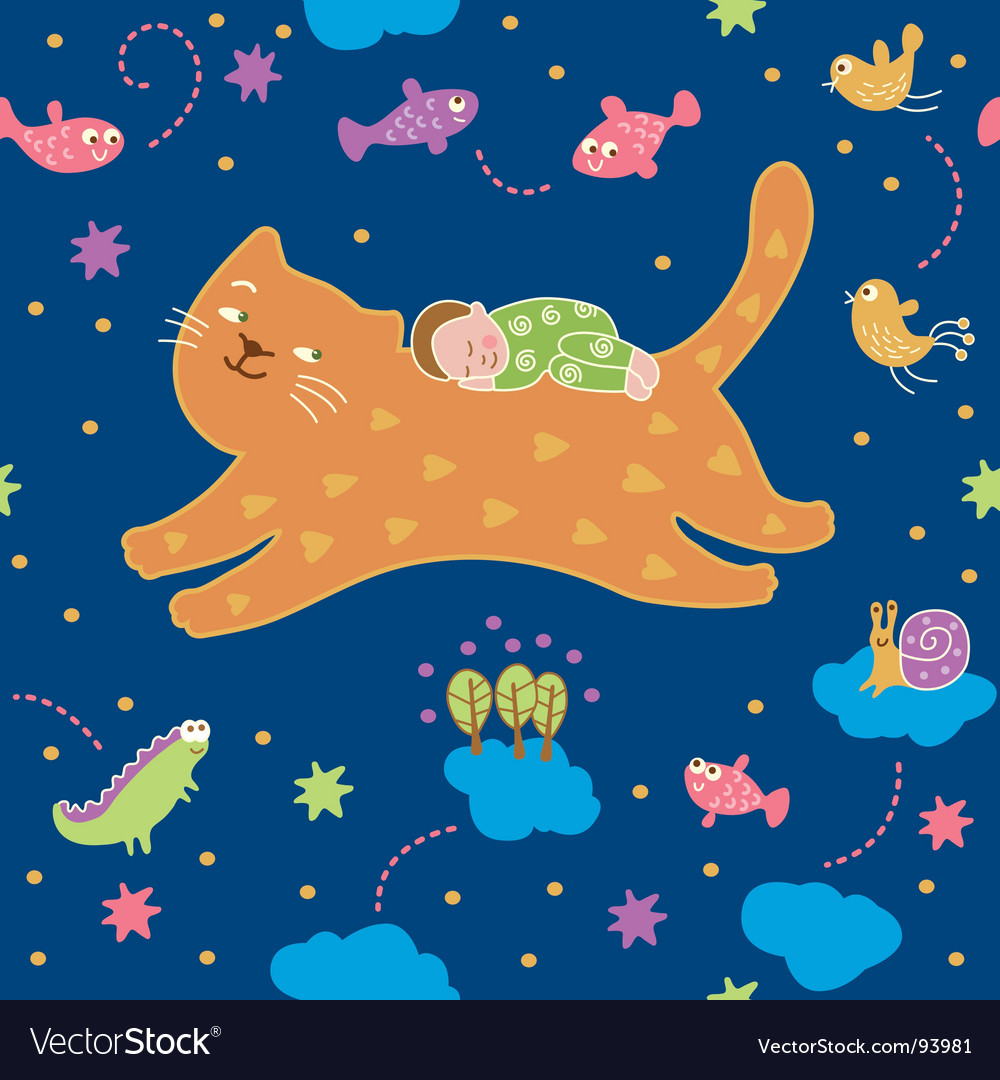 Lullaby pattern vector | Price: 1 Credit (USD $1)