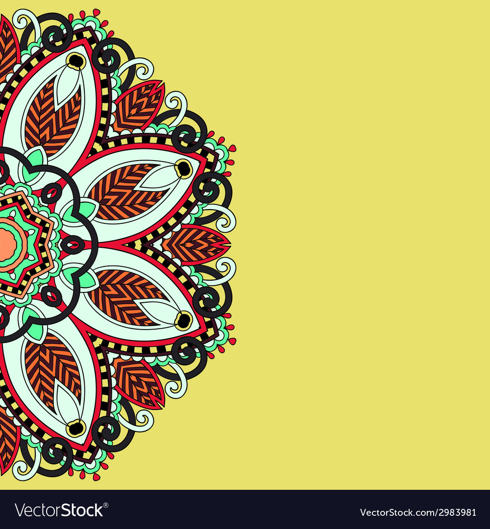 Ornamental template with circle floral background vector | Price: 1 Credit (USD $1)