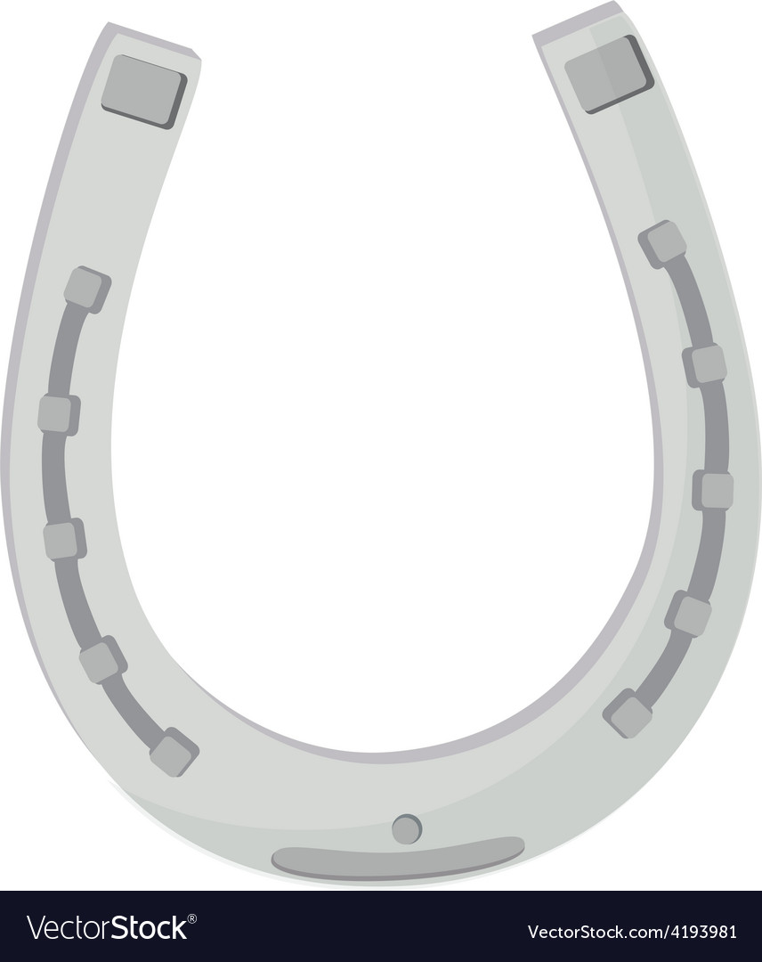 Silver horse shoe vector | Price: 1 Credit (USD $1)