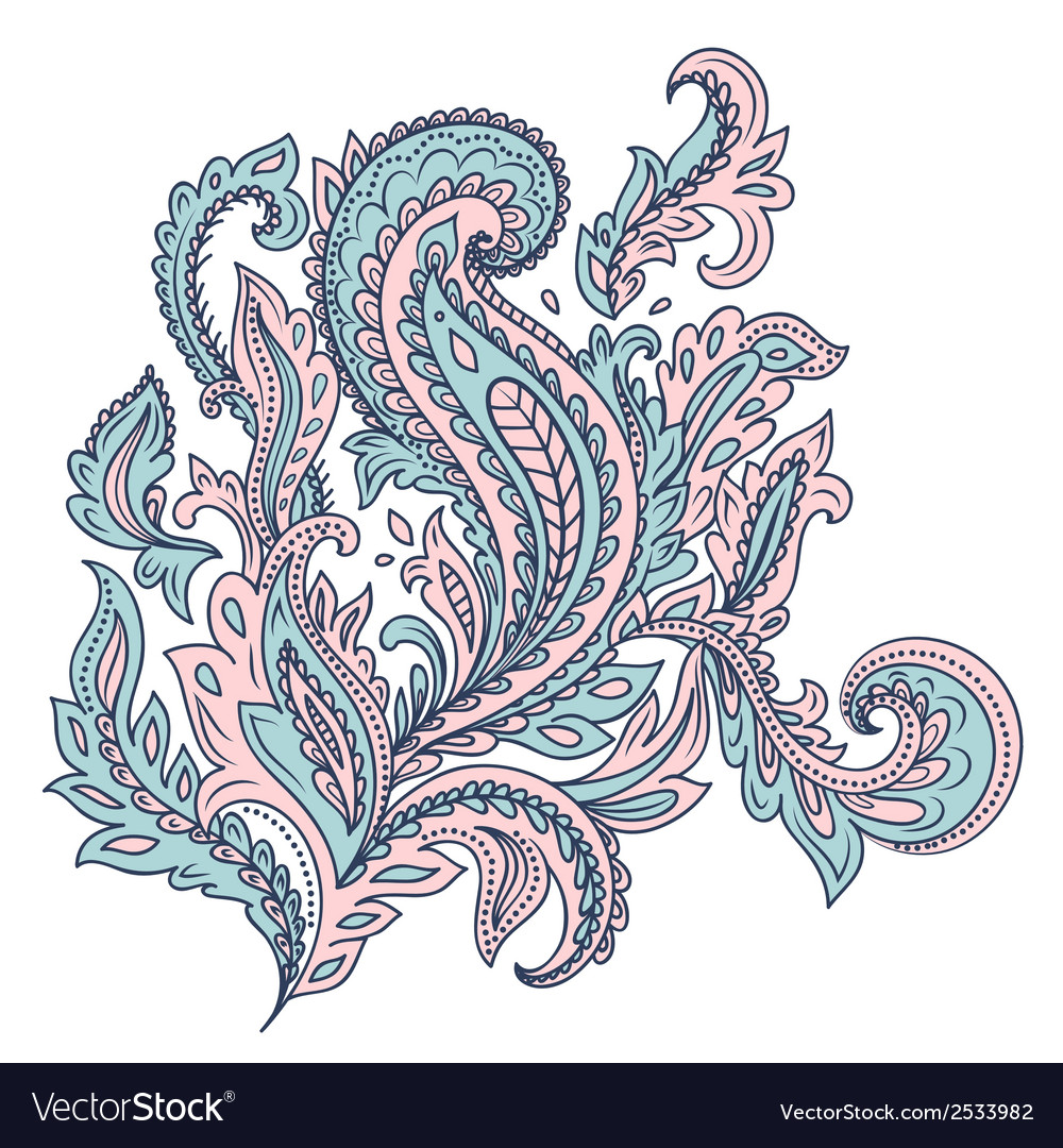 Beautiful indian floral ornament vector | Price: 1 Credit (USD $1)