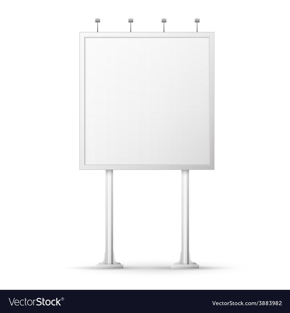 Blank billboard screen vector | Price: 1 Credit (USD $1)