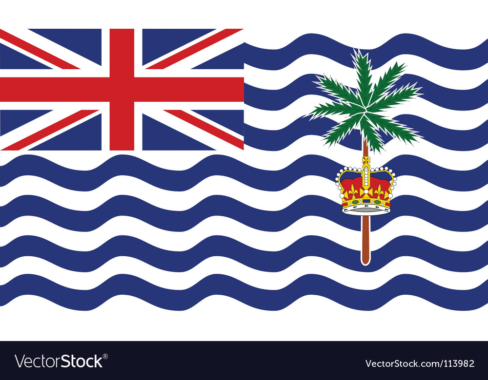 British indian ocean territory flag vector | Price: 1 Credit (USD $1)