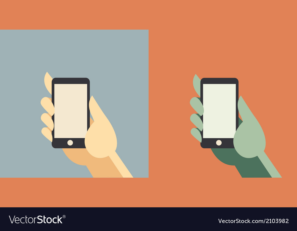 Businessman cartoon holding smart phone vector | Price: 1 Credit (USD $1)