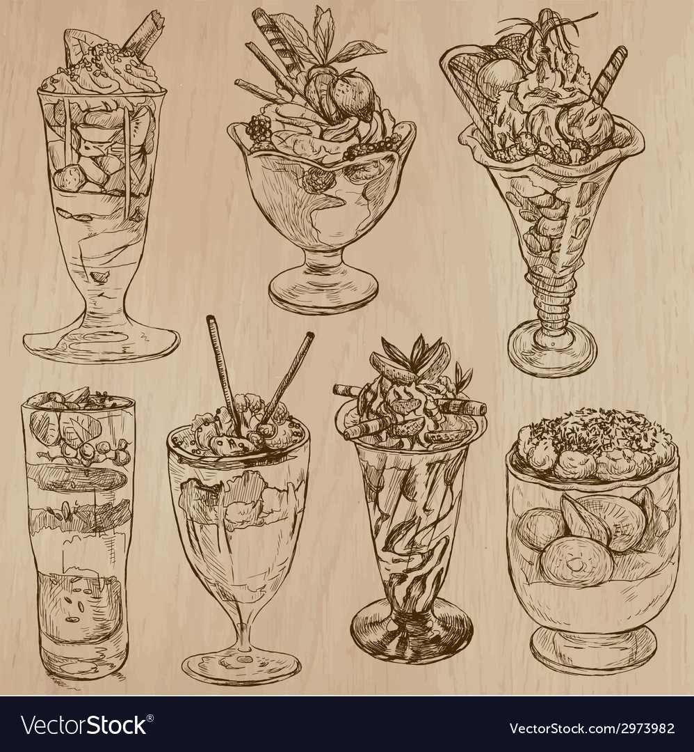 Candy and sweets - collection of hand drawn vector | Price: 1 Credit (USD $1)