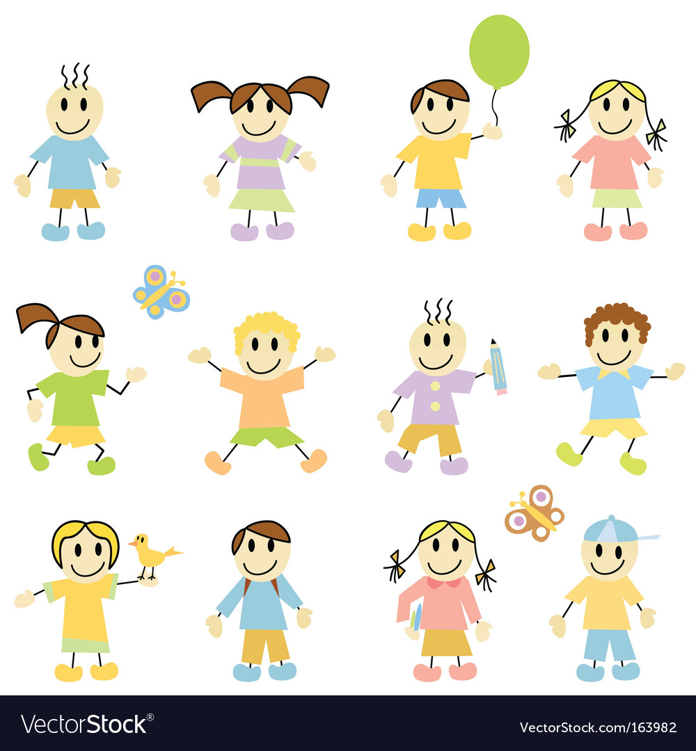 Cartoon children vector | Price: 1 Credit (USD $1)
