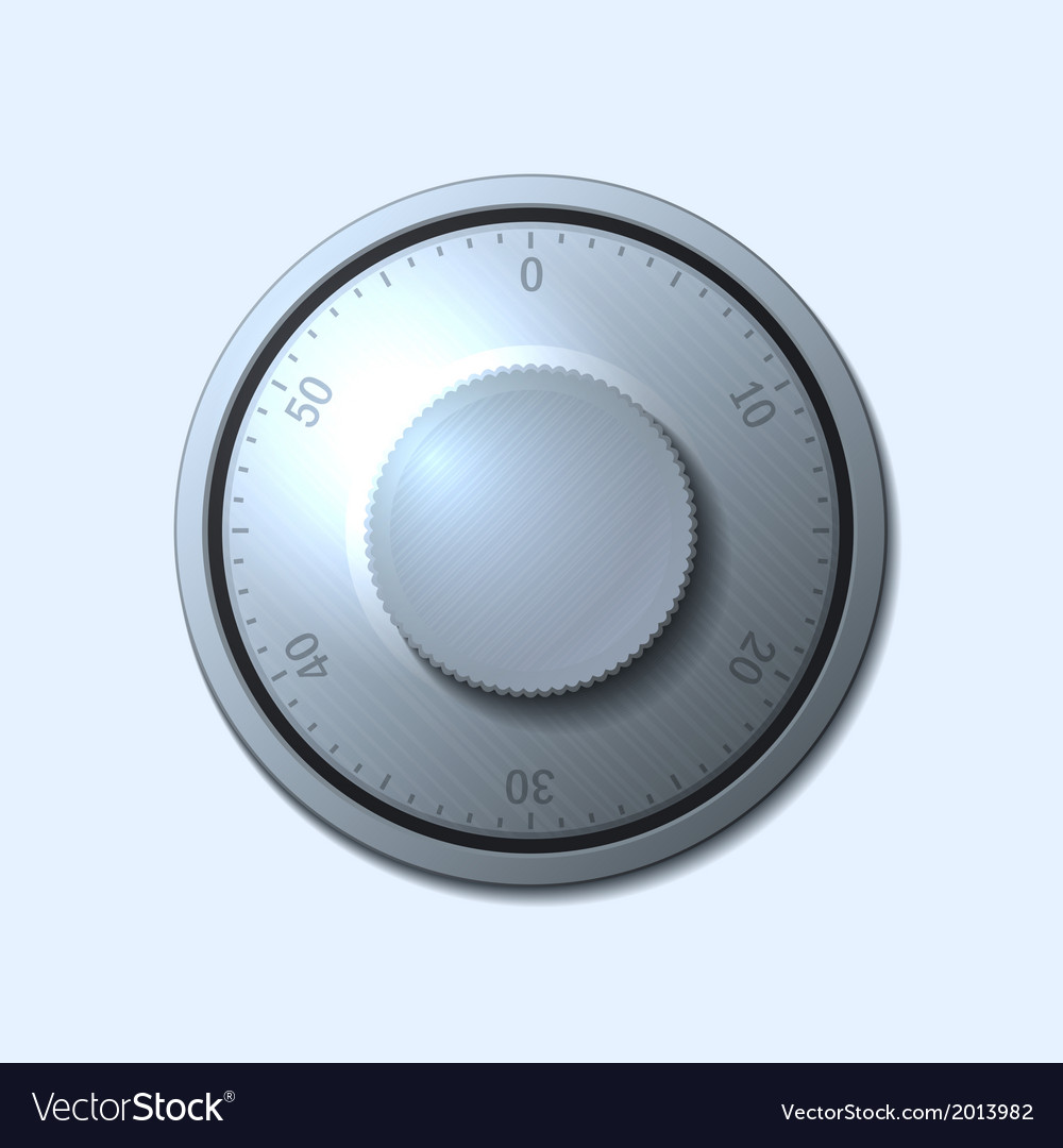 Combination lock wheel on light background vector | Price: 1 Credit (USD $1)