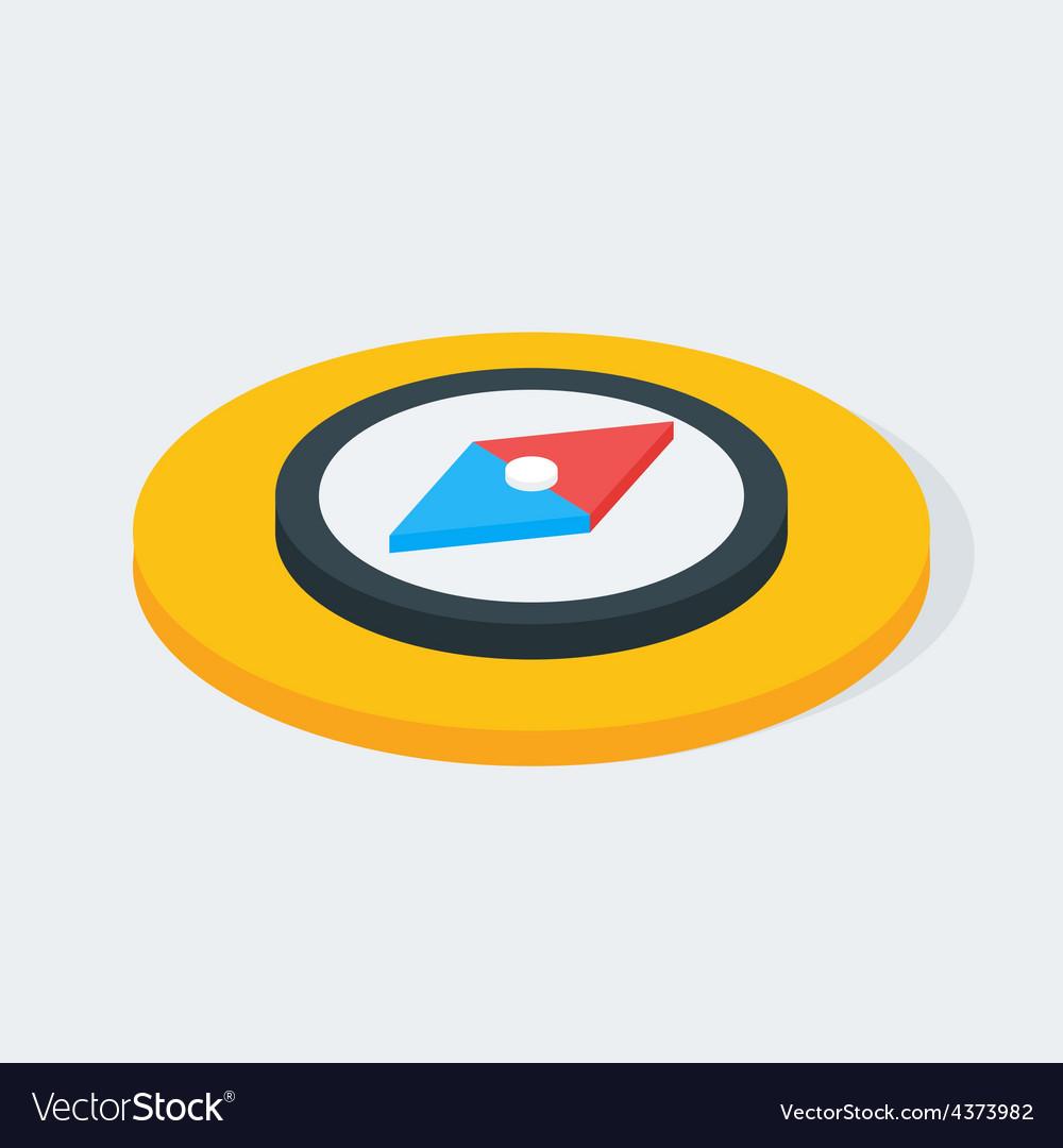 Compass isometric circle icon vector   Price: 1 Credit (USD $1)