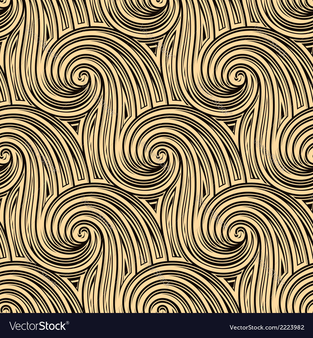 Curly seamless waves vector | Price: 1 Credit (USD $1)