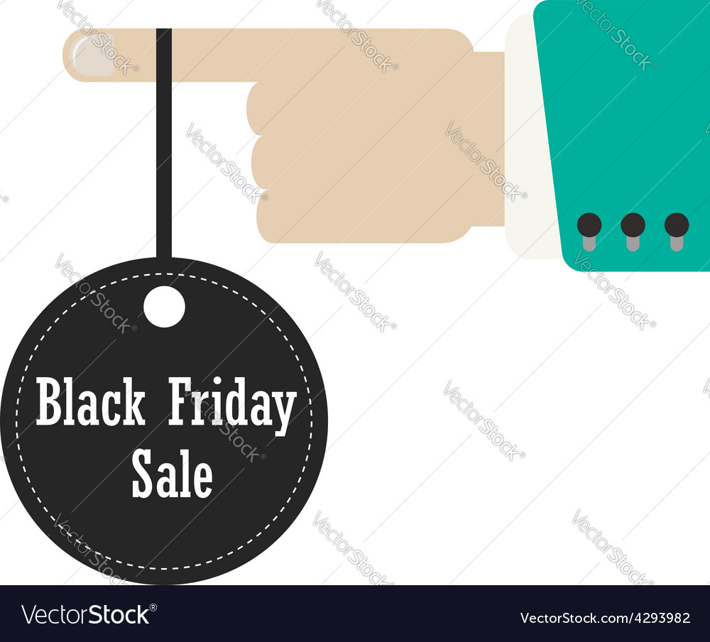 Hand holding label of black friday vector | Price: 1 Credit (USD $1)