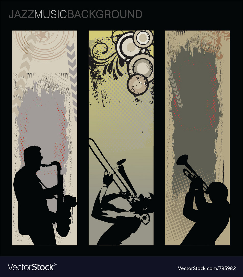 Jazz music background set vector | Price: 1 Credit (USD $1)