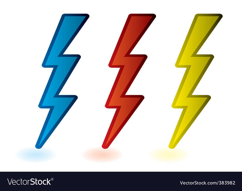 Lightning bolts vector | Price: 1 Credit (USD $1)