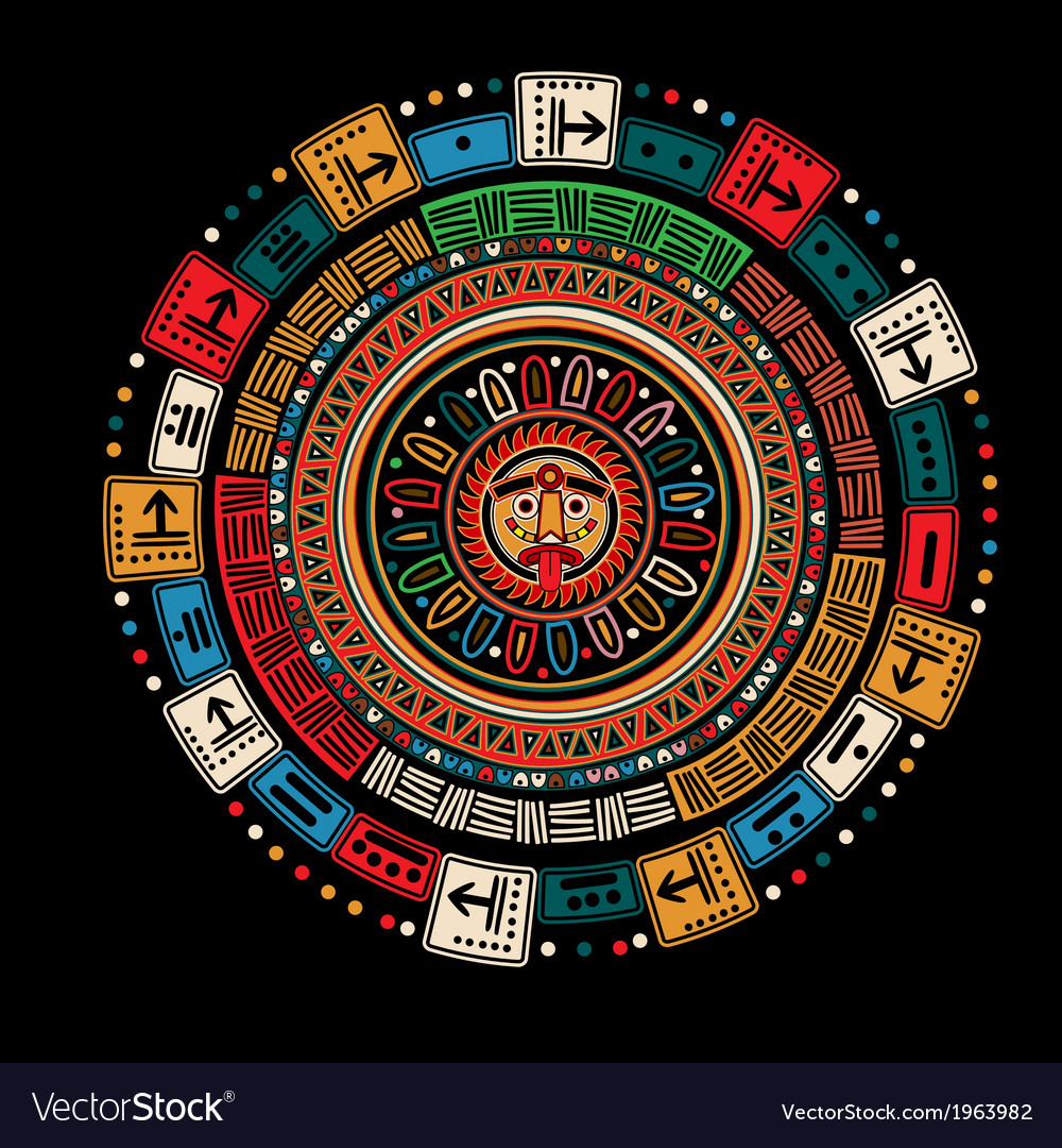 Maya calendar vector | Price: 1 Credit (USD $1)