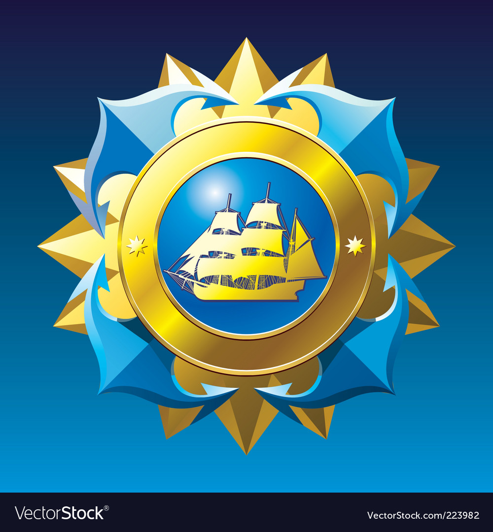 Nautical emblem vector | Price: 1 Credit (USD $1)