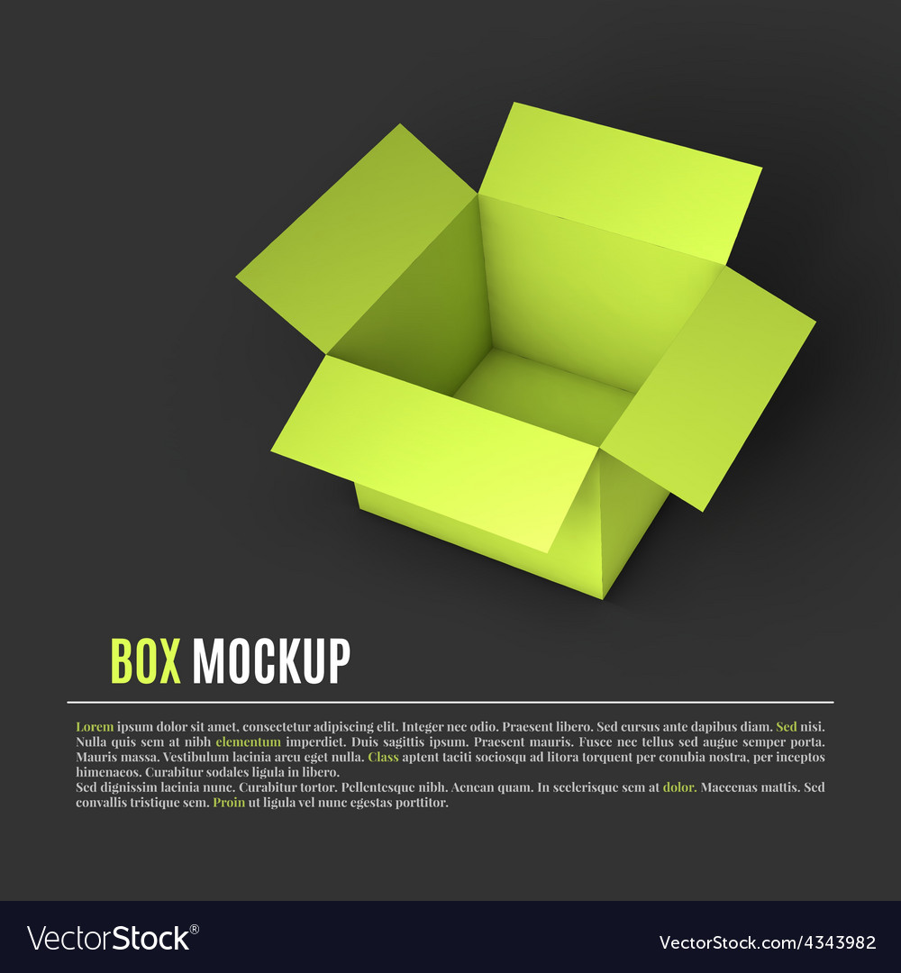 Open box mockup template vector | Price: 1 Credit (USD $1)