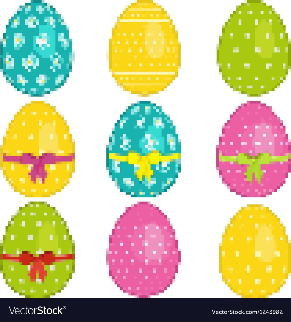 Pixel easter eggs vector   Price: 1 Credit (USD $1)