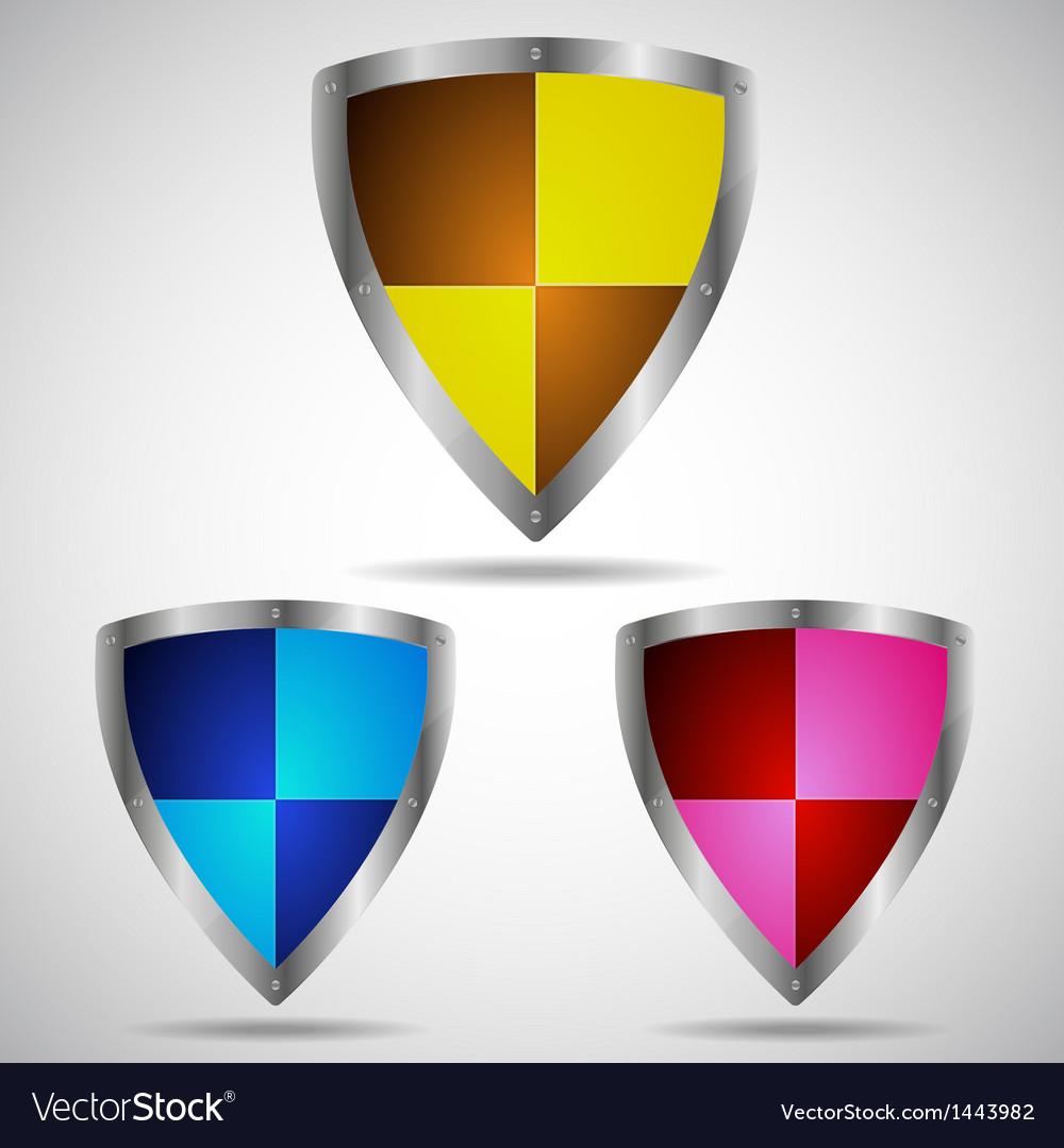 Set of security shield symbol icon vector | Price: 1 Credit (USD $1)