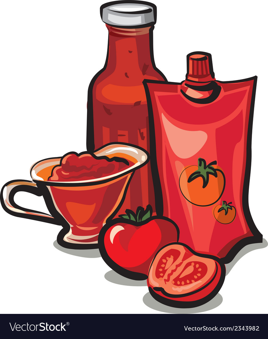 Tomato sauces vector | Price: 1 Credit (USD $1)