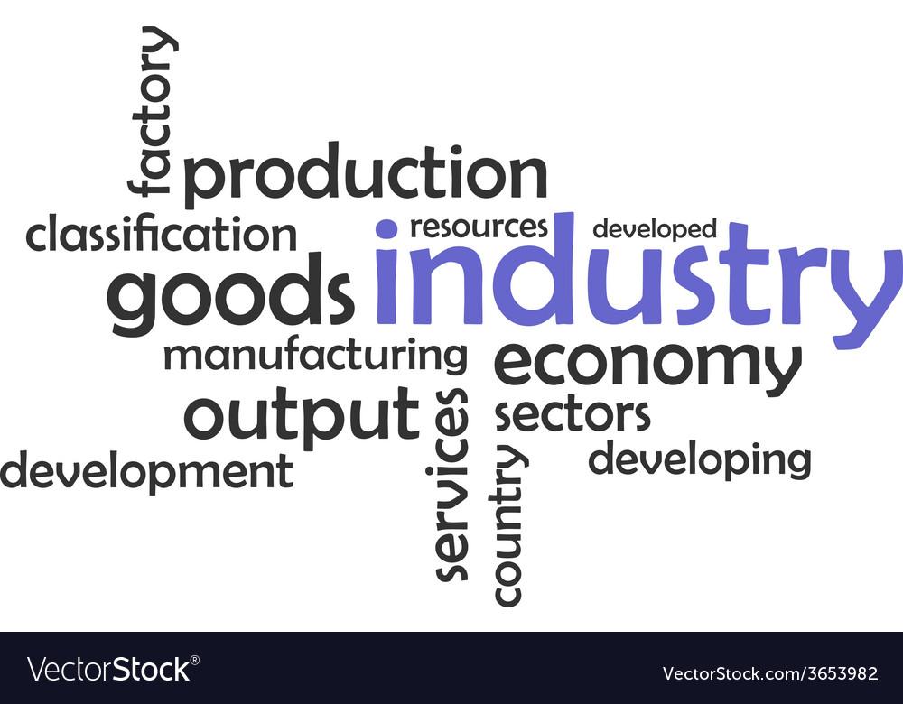 Word cloud industry vector | Price: 1 Credit (USD $1)