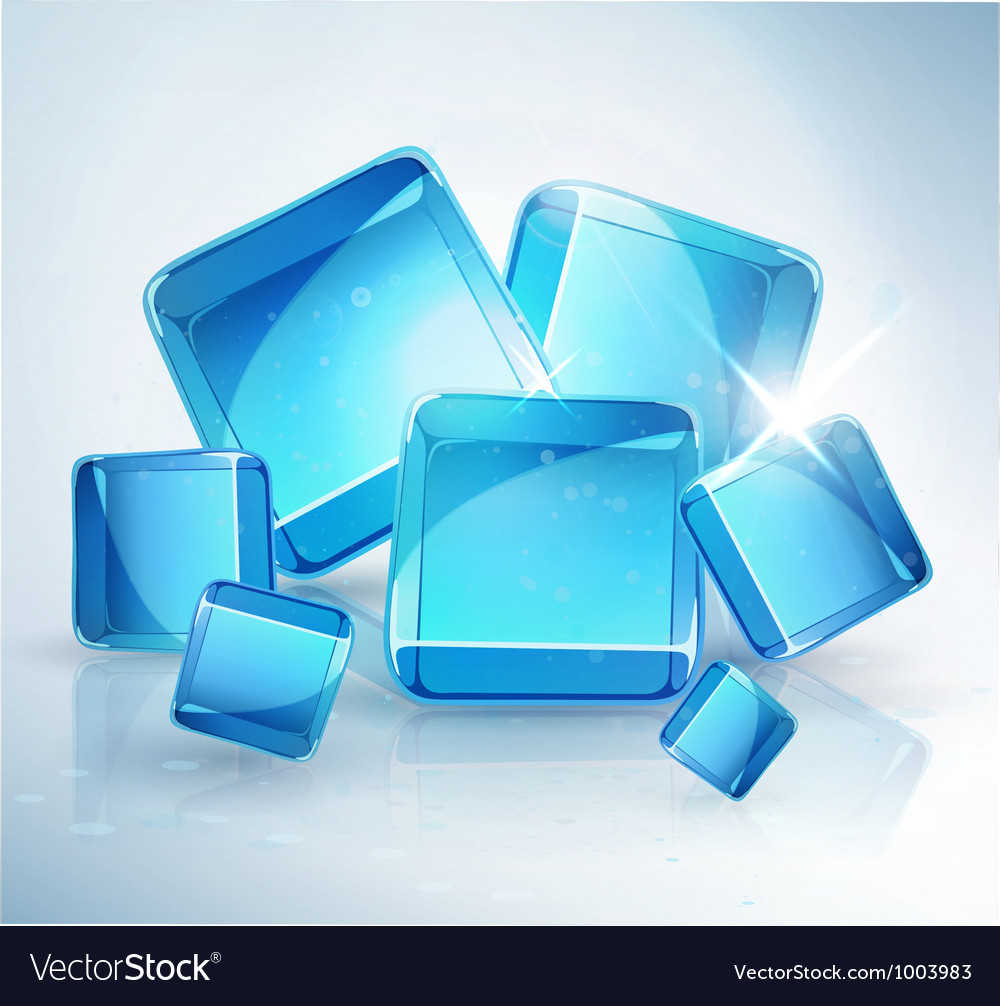 Abstract background ice cubes vector | Price: 1 Credit (USD $1)
