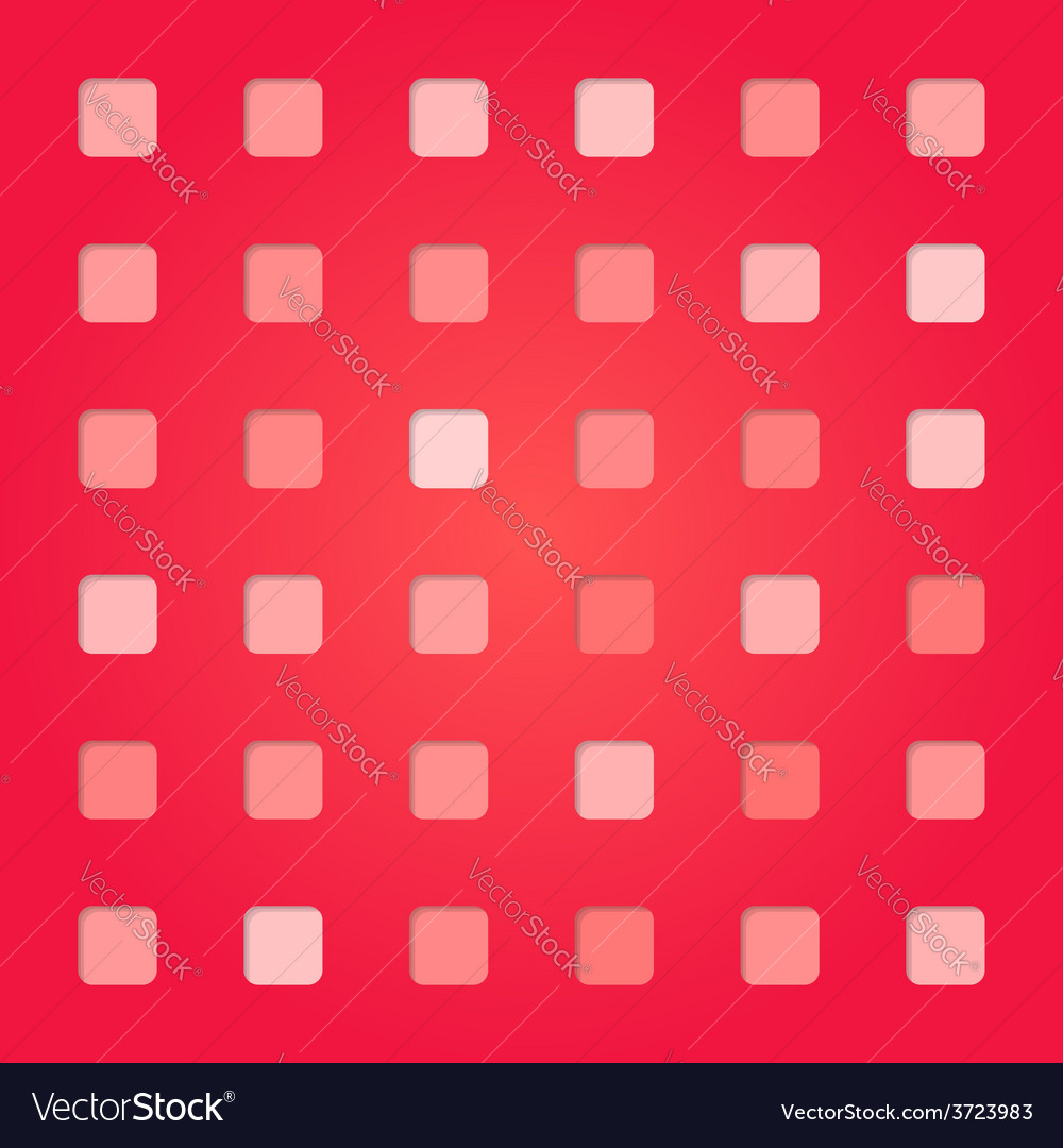 Abstract red pink square pattern vector | Price: 1 Credit (USD $1)