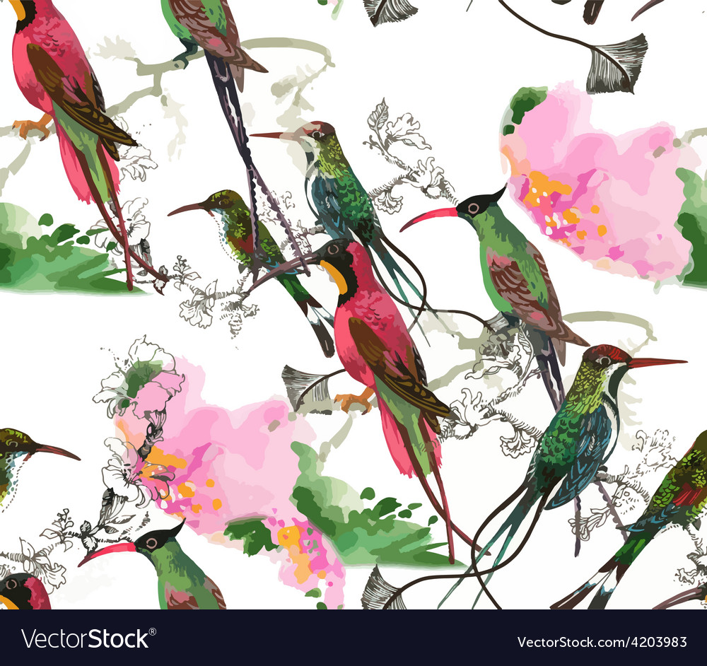 Artistic bird background vector | Price: 3 Credit (USD $3)