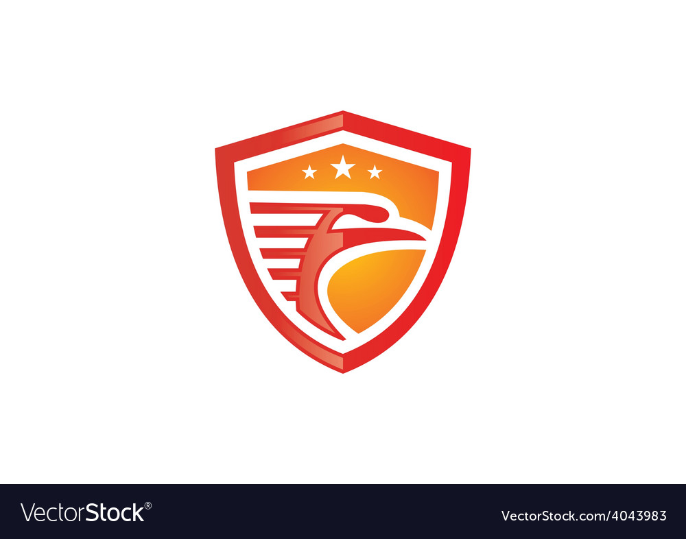 Bird eagle mascot shield logo vector | Price: 1 Credit (USD $1)