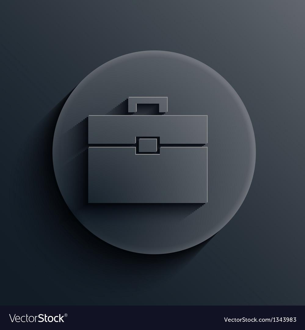 Dark circle icon eps10 vector | Price: 1 Credit (USD $1)
