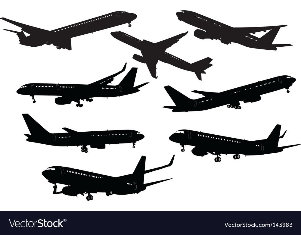 Eight planes vector | Price: 1 Credit (USD $1)