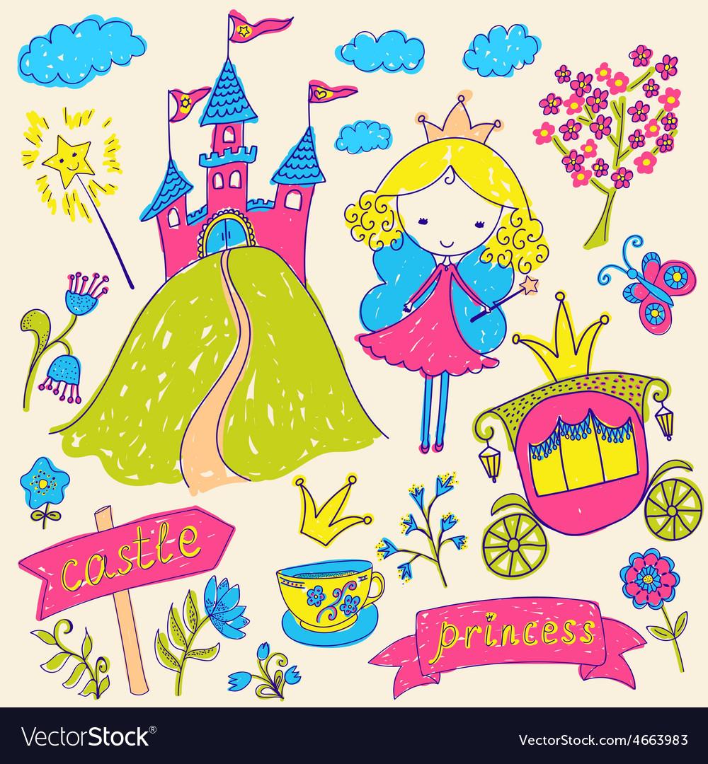 Fairy tale princess vector   Price: 1 Credit (USD $1)