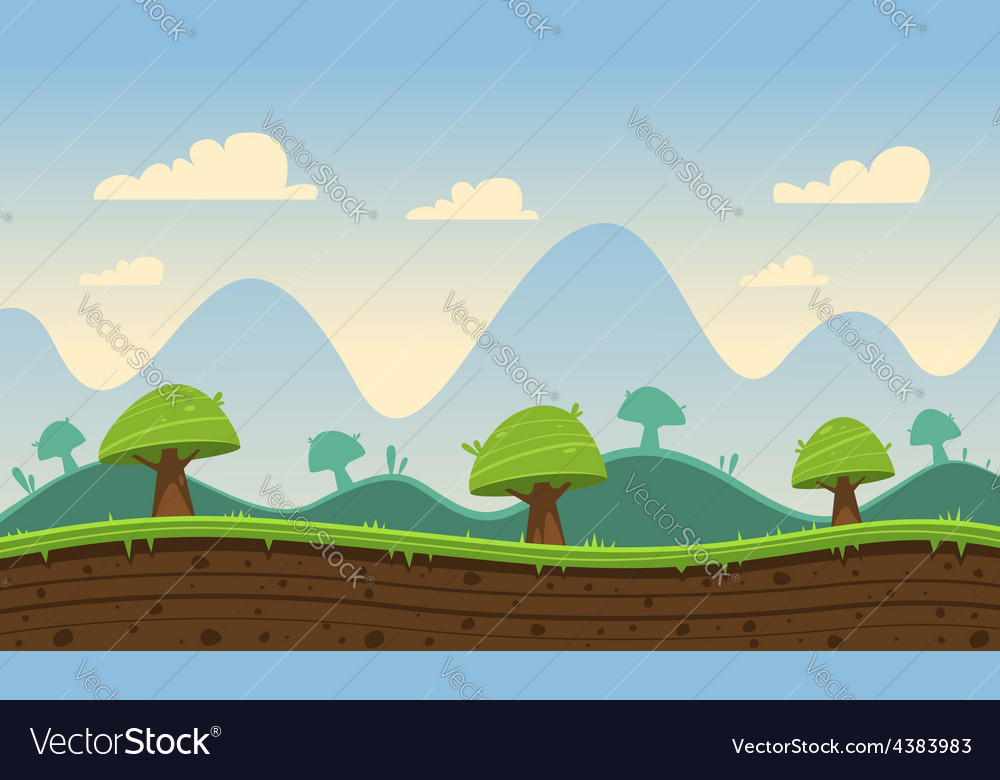 Game cartoon background vector | Price: 3 Credit (USD $3)