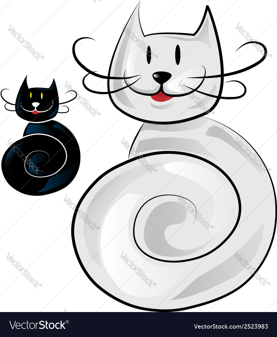 Happy cat cartoon vector   Price: 1 Credit (USD $1)