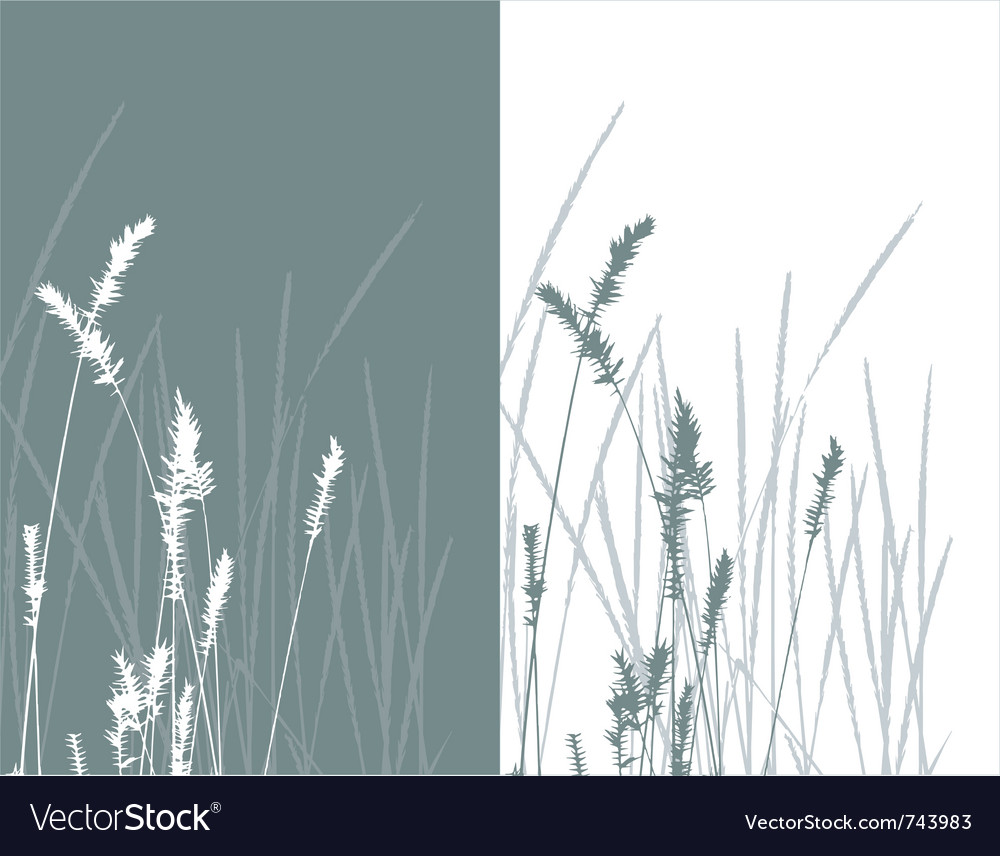 Real grass silhouette 2 colors vector | Price: 1 Credit (USD $1)