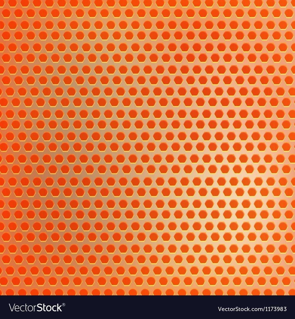 Retro orange hexagon dots background vector   Price: 1 Credit (USD $1)