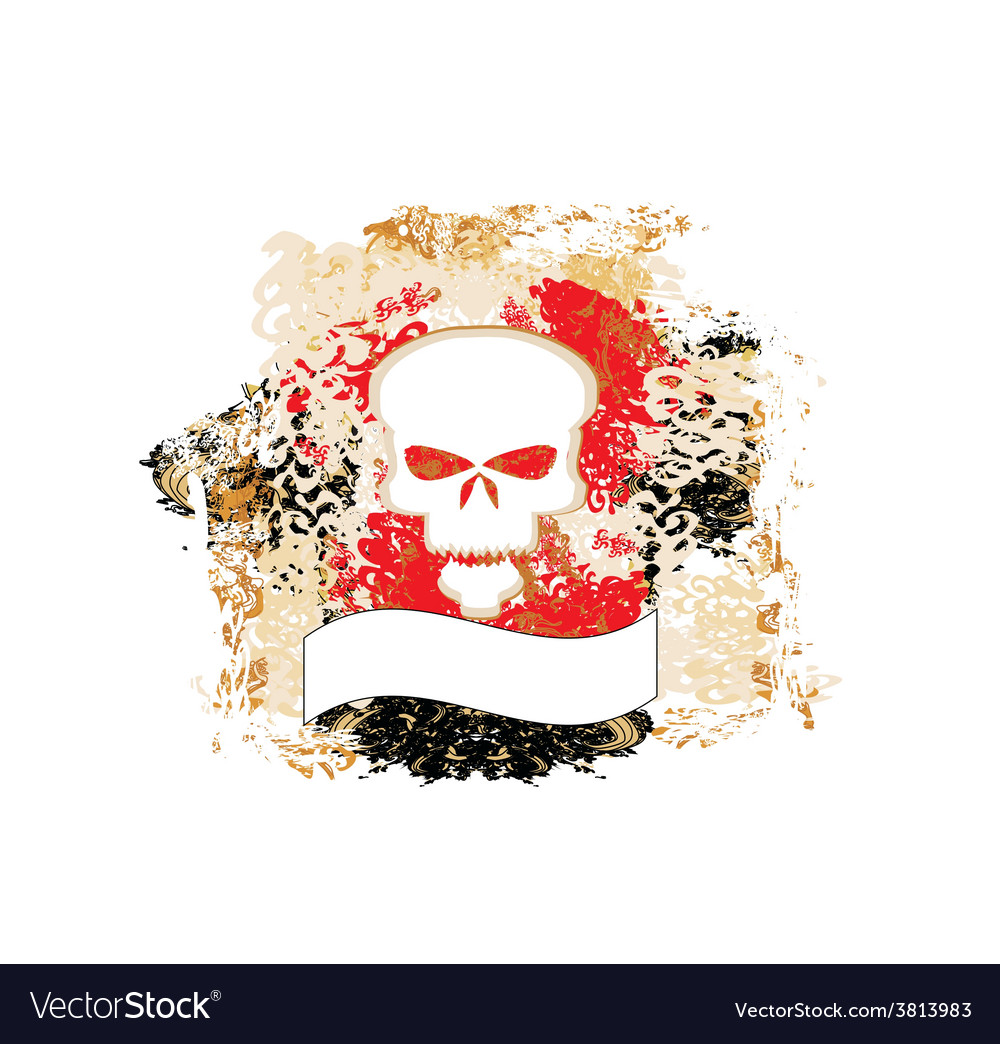 Skull grunge background vector | Price: 1 Credit (USD $1)