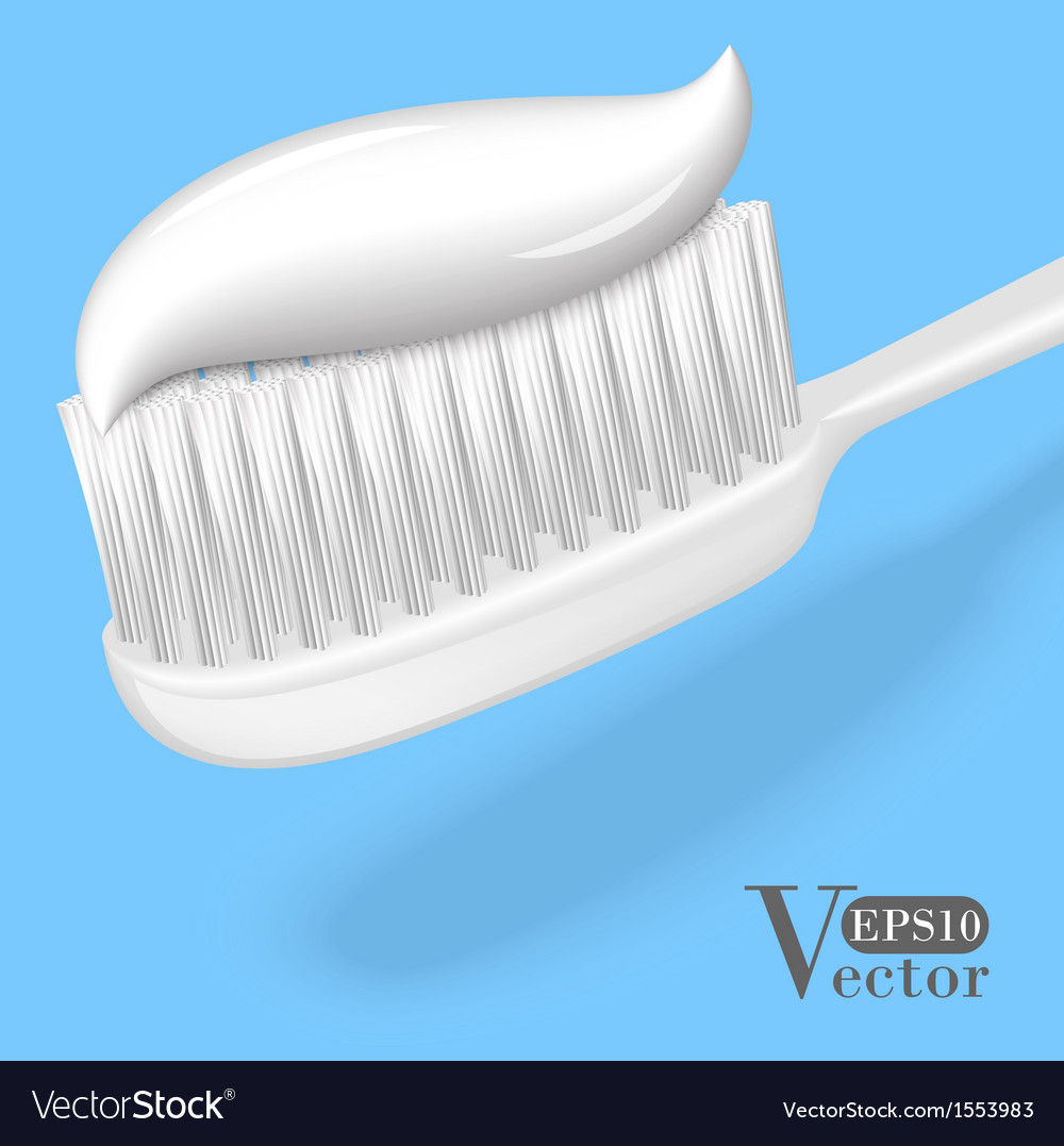 Toothbrush with toothpaste vector | Price: 1 Credit (USD $1)