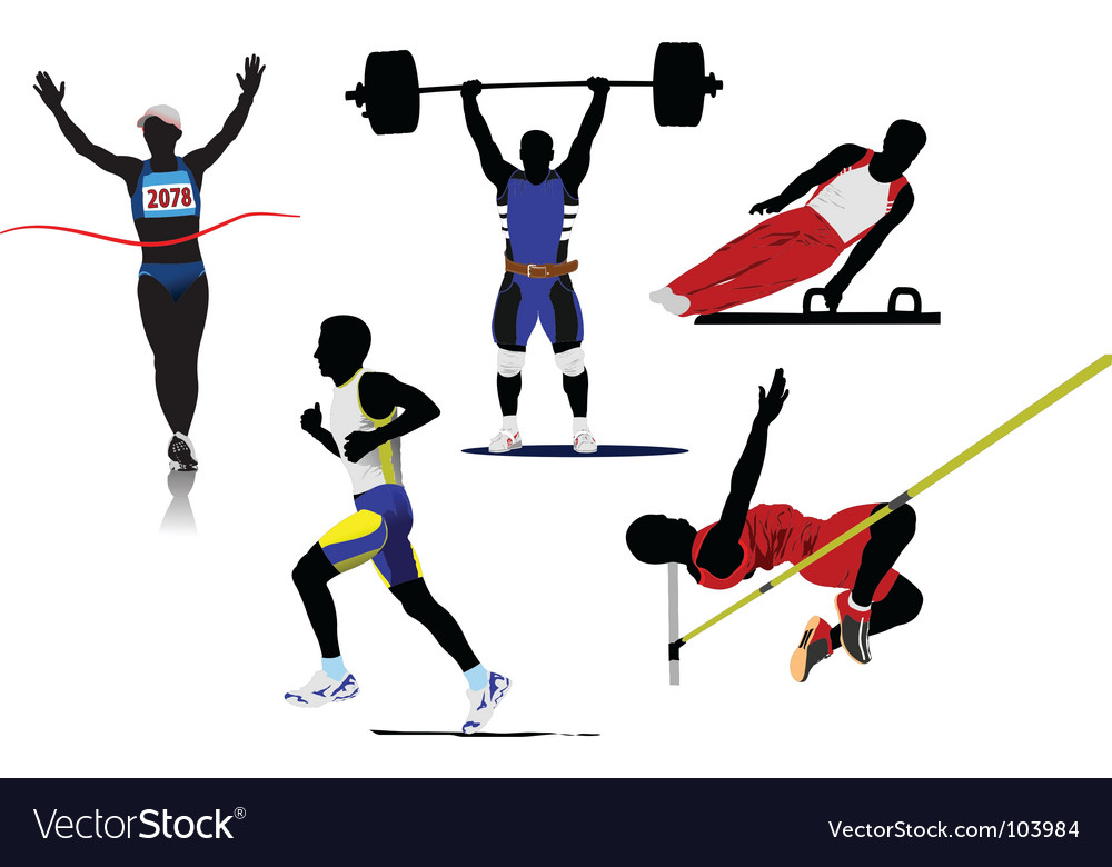 Athletic sport silhouettes vector | Price: 1 Credit (USD $1)